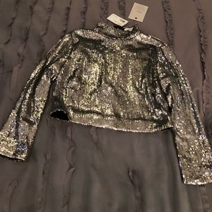 SALE!  A.L.C. Crop Sequin Top